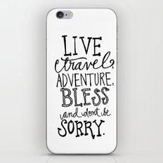 Live Travel Adventure - Hand Scripted  iPhone & iPod Skin