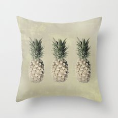 Pineapples in mocha Throw Pillow