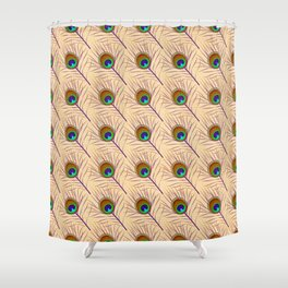 Peacock feather east ornament Shower Curtain