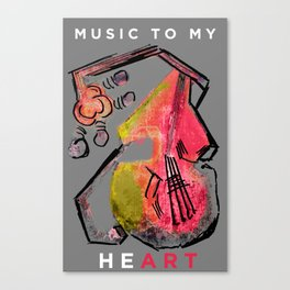 - Music to my HeART Canvas Print