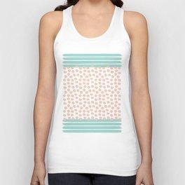 Mint Stripes & Pink Dots Unisex Tank Top