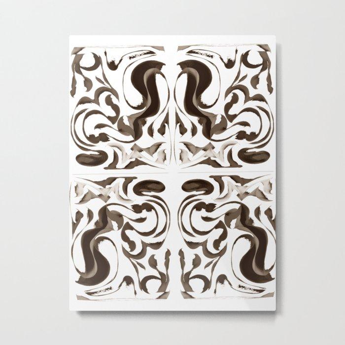 Sepia Metal Print