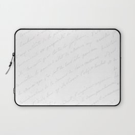 Vintage chic gray white hand painted typography Laptop Sleeve