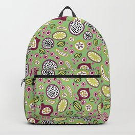 abstract fruit-salad green Backpack