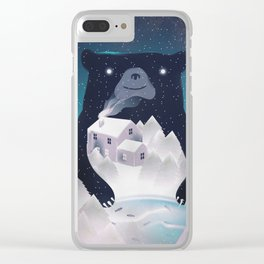 I Love Winter Clear iPhone Case
