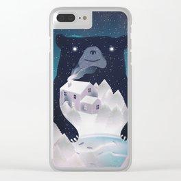 I Love Winter Clear iPhone Case