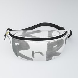 Watercolor R's - Grey Gray Fanny Pack