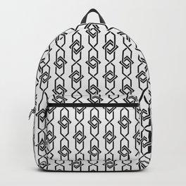 Japanese yukata geometric line pattern in grey Backpack
