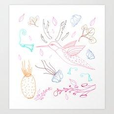 Humming Boyd  Art Print