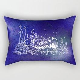 Dino skull – Blue Rectangular Pillow
