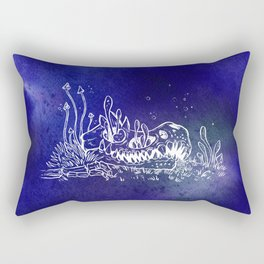 Dino skull – Blue Rectangular Pillow
