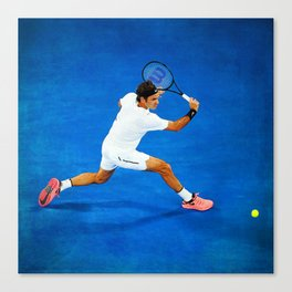 Roger Federer Sliced Backhand Canvas Print