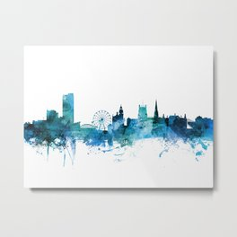 Sheffield England Skyline Metal Print