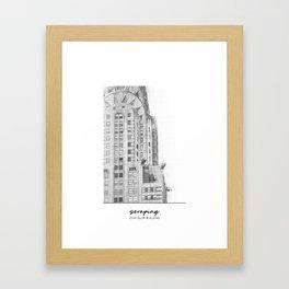 Crysler Building Framed Art Print