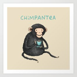 Chimpantea Art Print