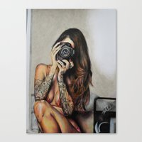 hello beautiful Canvas Prints featuring Hello Beautiful by Kim Morrow
