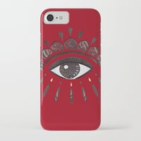 kenzo iPhone & iPod Cases featuring KENZO eye red by cvrcak