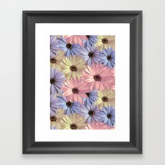 Pink Yellow Blue Framed Art Print