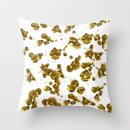 Golden Dots Throw Pillow
