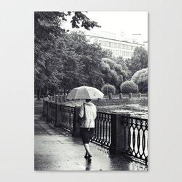 Woman And Umbrella Canvas Print