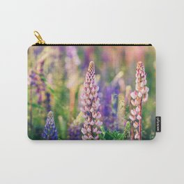 Lupine Flower - Lupinus - Floral Art Carry-All Pouch