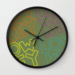 Keepin It Low Key Wall Clock