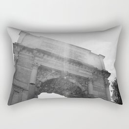 Black and White Arc de Triomphe Rectangular Pillow