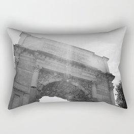 Black and White Arc de Triomphe Rectangular Pillow