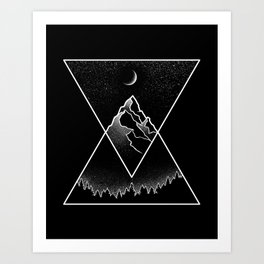 Pyramidal Peaks Art Print