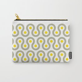 Geometric Pattern #75 (gray yellow wave) Carry-All Pouch