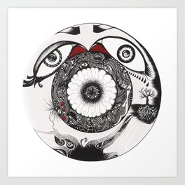 Composition in circle. Art Print
