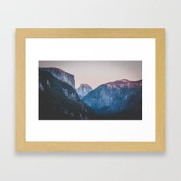 Yosemite sunset II Framed Art Print