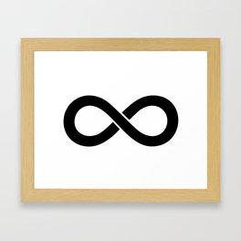 Black Infinity Framed Art Print