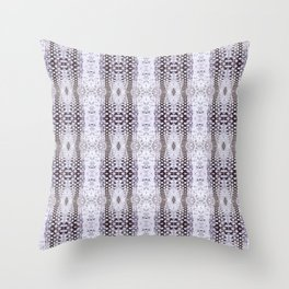 Pattern 58 - Tire track snow lace Throw Pillow