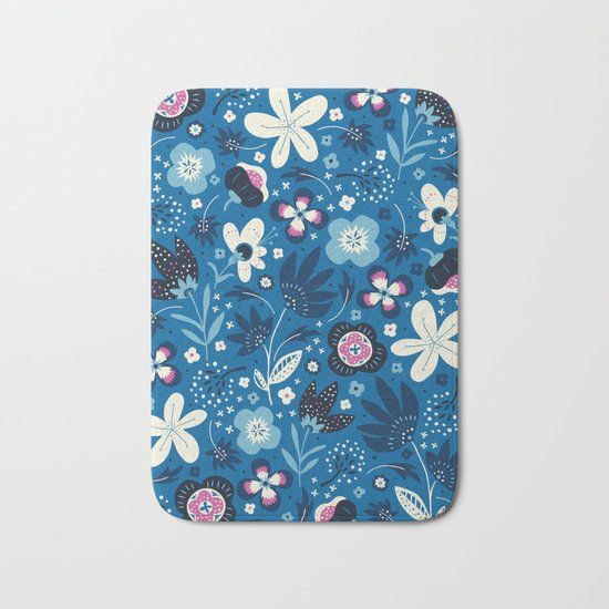Blue Meadow Bath Mat