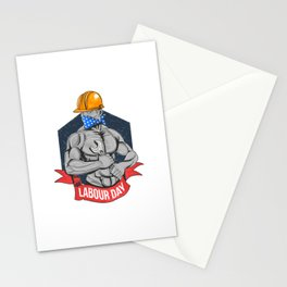 Labour Day 1 May Day Worker Stationery Cards