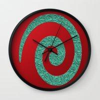 snake Wall Clocks featuring snake by Sébastien BOUVIER