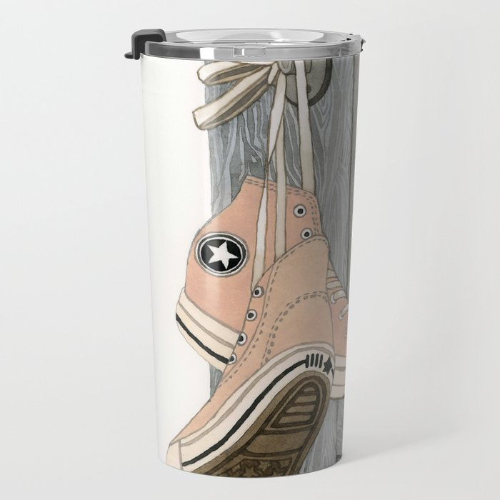 Pink Chucks Travel Mug