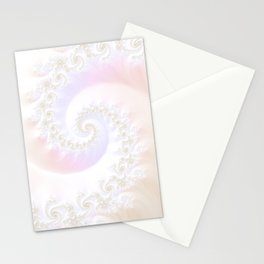 Ocean Treasure -- Mother of Pearls Mandelbrot Stationery Cards