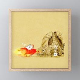 Dragon making Tea Framed Mini Art Print