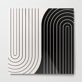 Two Tone Line Curvature VIII  Metal Print