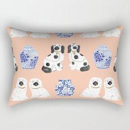 Staffordshire Dogs + Ginger Jars No. 5 Rectangular Pillow