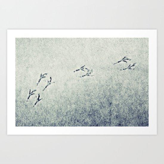 Bird Foot Prints Art Print