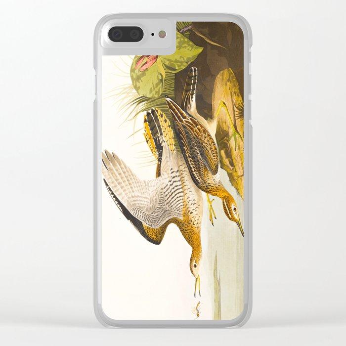 Bartram Sandpiper Bird Clear iPhone Case