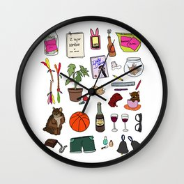 New Girl Wall Clock