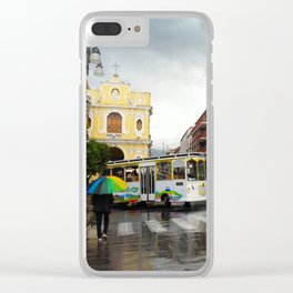 Rainy Sorrento Clear iPhone Case