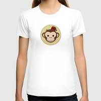 fez T-shirts featuring Monkey with Fez by JaggedGenius