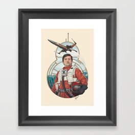 Poe Dameron Framed Art Print