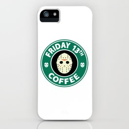 Friday The 13th Coffee iPhone Case