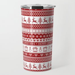 Nordic fair isle Christmas pattern Travel Mug